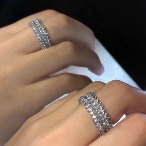 Swarovski Crystal Baguette Diamond Ring Size 7